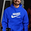 Nike hoodie royal blue front view