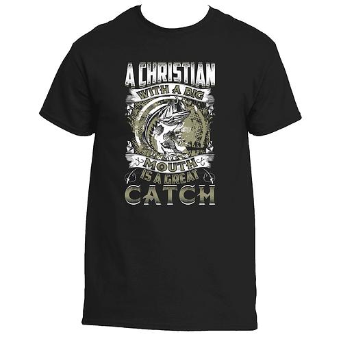 Bass Fishing Christian T- Shirt Unisex
