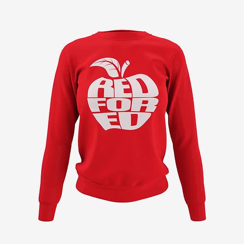 Red For Ed Apple Sweatshirt