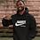 Nike hoodie black front view