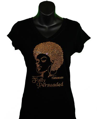 Black blink afro women's Christian t-shirt