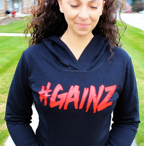 Black and red women's fitness hoodie