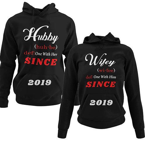 Hubby Wifey Customizable Hoodies