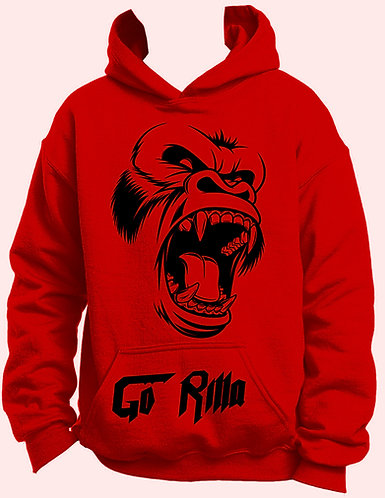 Red and black gorilla hoodie