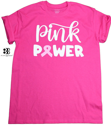 Pink Power Breast Cancer Awareness T-Shirt