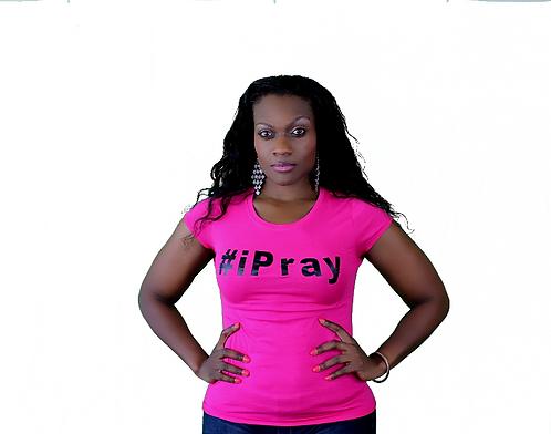 Pink I pray women's Christian T-Shirt
