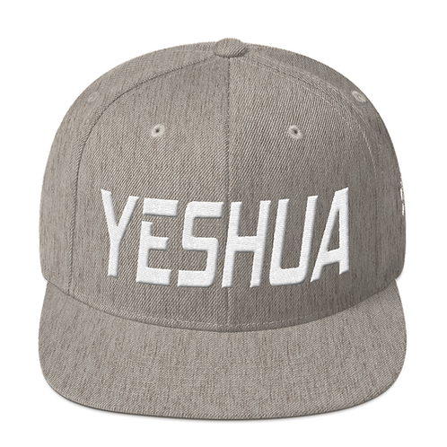 Heather gray Yeshua snapback hat