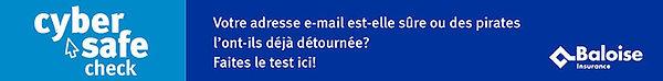 banner lien pour vérifier la sécurité de son compte email