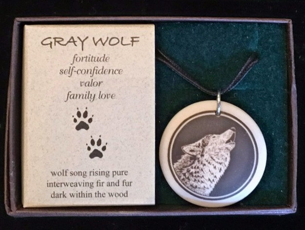 Wolf totem necklace/amulet