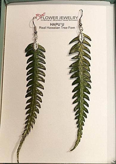 Hawaiian fern earring