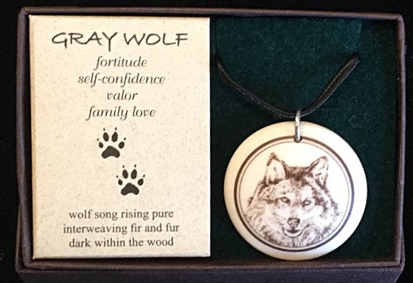 Wolf totem 2 necklace/ amulet