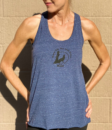 Twisted back logo tank top