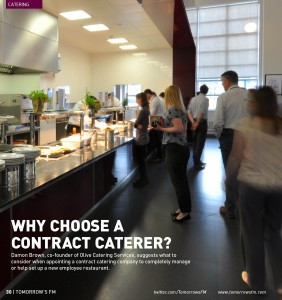 WHY CHOOSE A CONTRACT CATERER? DAMON BROWN EXPLAINS TO TOMORROW'S FM