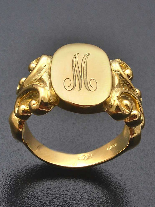 Classic Signet ring with the signature letter
