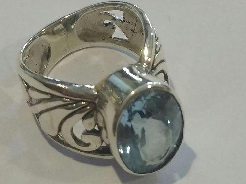 Jewel Crown in Blue Topaz