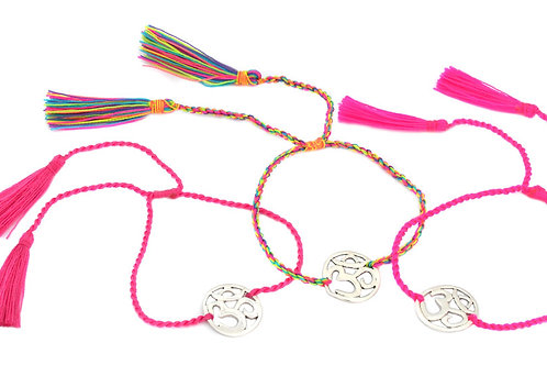 3 Bracelets OM rainbow color