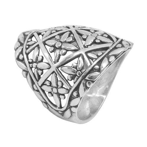 Lotus Shield ring