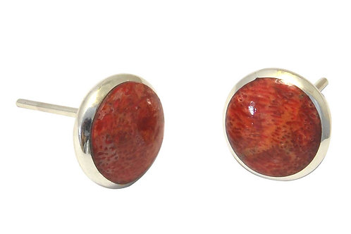 the Coral Stud Earring