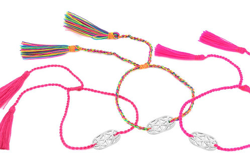 3 Bracelets LOTUS rainbow color
