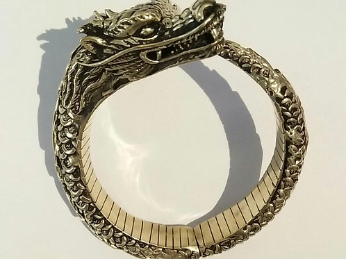 Our Dragon Master Bangle in Brass