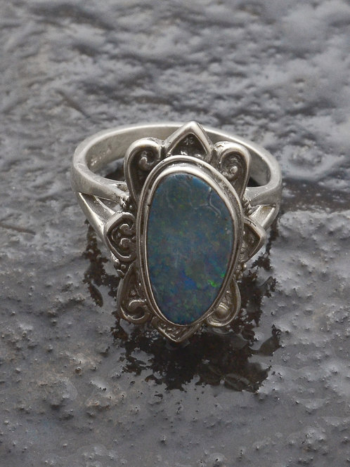 SUN OPAL ring with our opal stone.