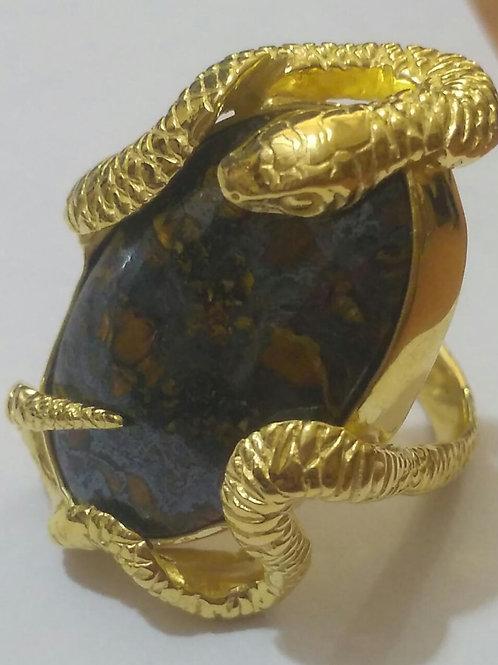 Gold Medusa Ring