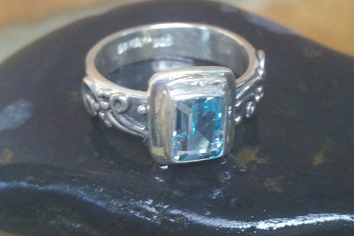 frozen ring with Bluetopaz stone