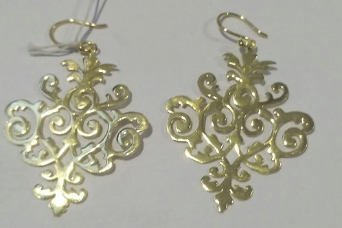 Earring pakis with gold plated