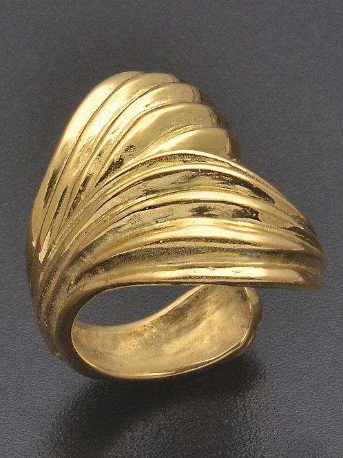 Mermaid goldplated ring