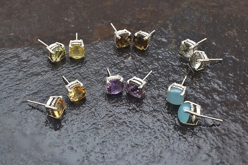 POMELO Studs, coming in all beautiful colors of gems