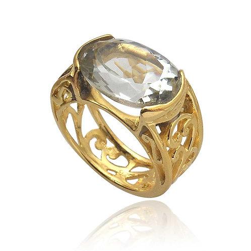 Pakis Pomelo Ring Green Amethyst stone