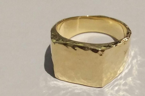 Signet ring goldplated