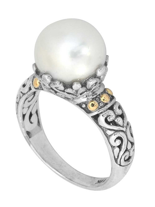 Ring made from freshwater pearls