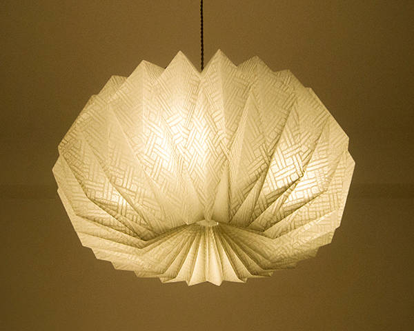 Origami  lamp  Cloud -Tosa Washi-