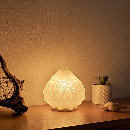 Origami table lamp Mosque 土佐落水和紙