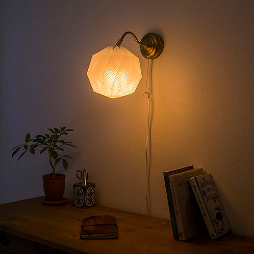 Origami Wall Lamp Sphere 土佐落水和紙