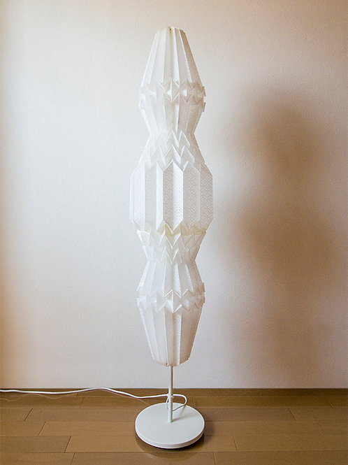 Origami Floor Lamp Crystal 土佐落水和紙