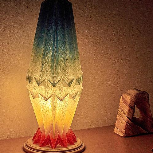 サンプル Origami Table Lamp Crystal S 土佐落水和紙 グラデーション