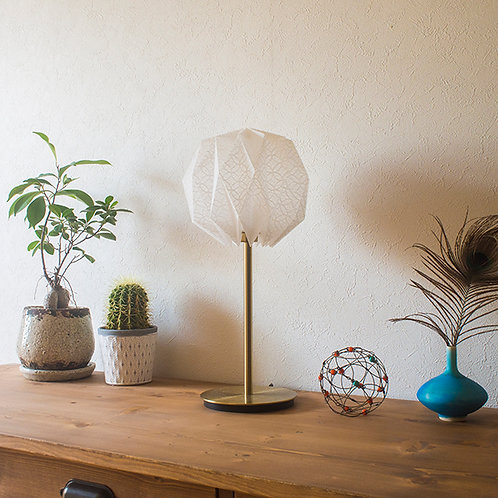 Origami Table Lamp Sphere S 土佐落水和紙