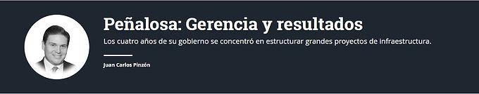 Peñalosa: Gerencia y resultados