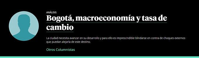 Bogotá, macroeconomía y tasa de cambio