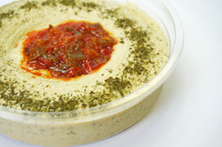 Fresh Hummus in a Container