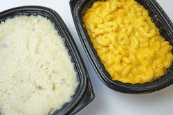 Food In Trays, Mashed Potatoes in a Tray, Mac and Cheese in a Tray, Microwavable Mac and Cheese in a