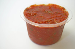Salsa in Cups, Salsa in Containers