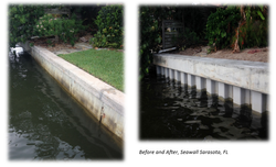 Before & After - New Seawall