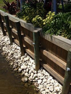 Wood Retaining Wall, Sarasota, FL