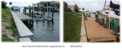 Before & After - New Seawall and Boat Dock