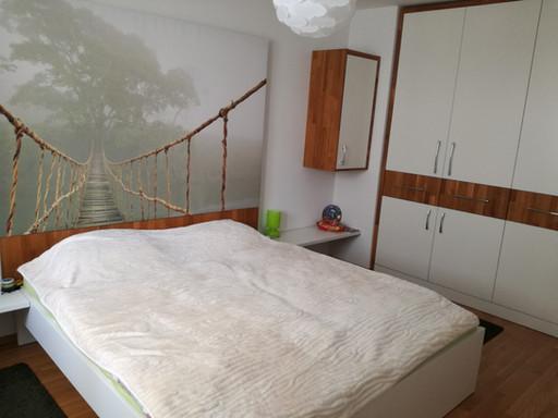 Schlafzimmer weiss, Eiche massiv