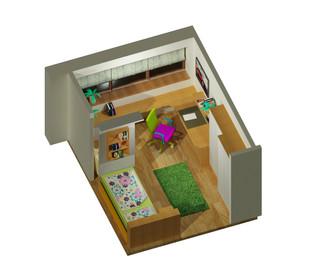 Visualisierung Jugenzimmer