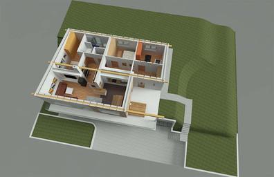 3D Ansicht Erdgeschoss